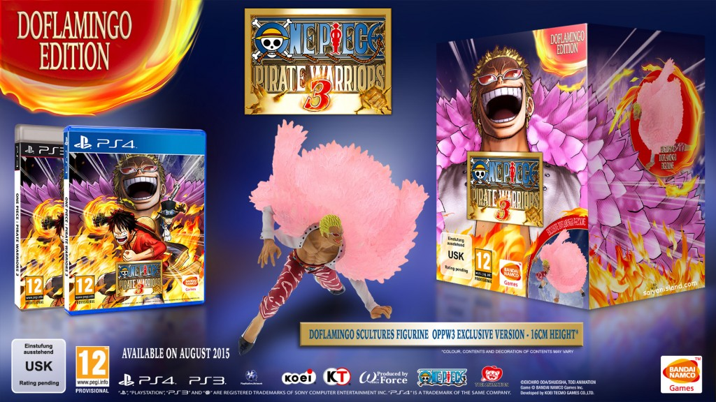 One Piece Pirate Warriors 3 figura Doflamingo