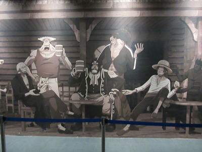 Tokyo One Piece Tower banda de Shanks