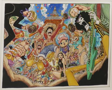 Tokyo One Piece Tower dibujo autor original