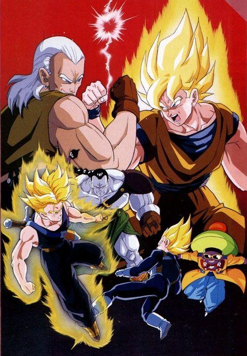 Dragon Ball Z: ¡Batalla al límite!, Los Tres Grandes Super Sayans
