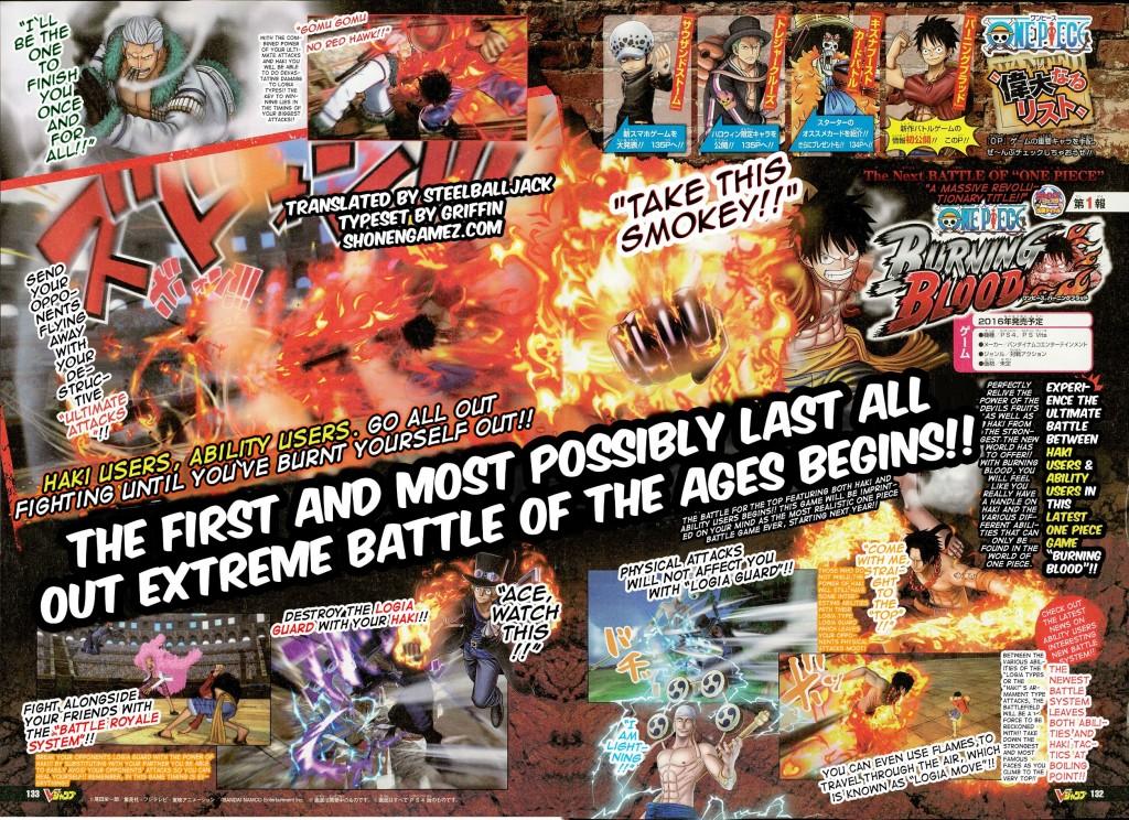 One Piece Burning Blood Smoker