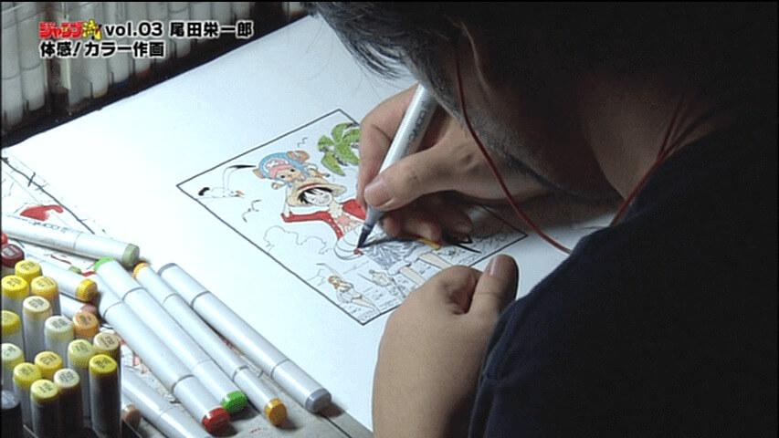 One Piece Eiichiro Oda dibujando