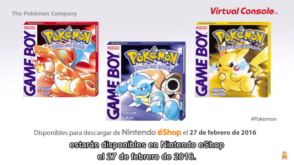 Pokemon RBY Virtual Console