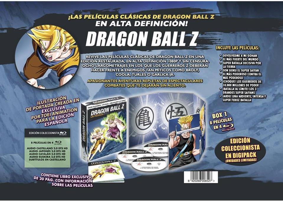 Dragon Ball Z Pelíscilas 1 Coll. BD Anuncio