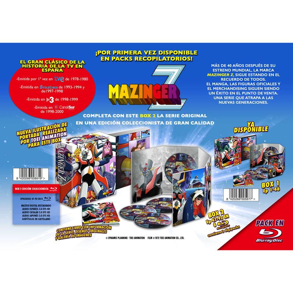 Mazinger Z Box 02 BD Anuncio
