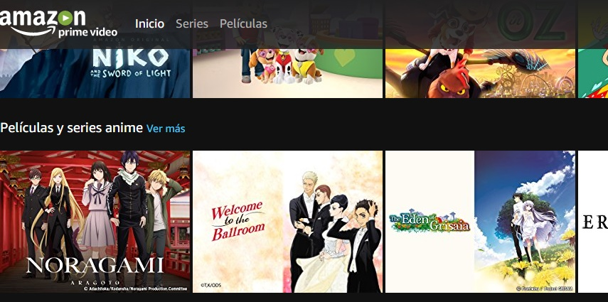 Prime Video Interfaz