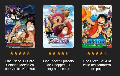 Las 13 películas de One Piece disponibles en el servicio bajo ... f989f7c6b52